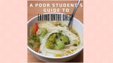 A poor student's guide to EATING ON THE CHEAP