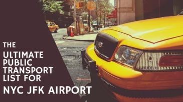 Public Transport JFK to Manhattan